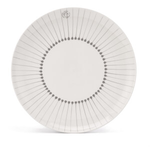 Nkuku Iba Ceramic Plate - Grey - Dinner Plate