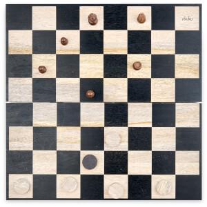 Nkuku Mango Wood Chess & Draughts - Mango Wood