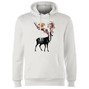 Tobias Fonseca Spring Itself Deer Floral Hoodie - White