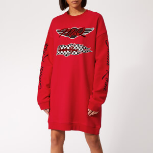 McQ Alexander McQueen Women's Slouchy Sweat Dress - Cadillac Red
