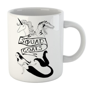 Rock On Ruby Mermaid, Unicorn and Dinosaur Squad Goals Mug