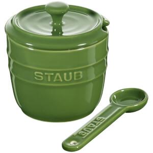 Staub Ceramic Round Sugar Bowl - Basil