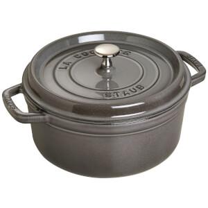 Staub Round Cocotte - Graphite Grey - 24cm