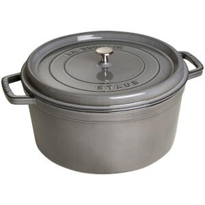 Staub Round Cocotte - Graphite Grey - 30cm