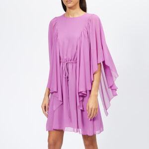 See By Chloé Women's Textured Frill Detail Dress - Striking Purple