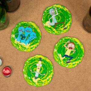 Rick and Morty 3D Coasters