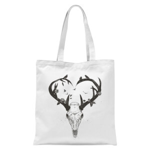 Balazs Solti Antlers Tote Bag - White