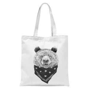 Balazs Solti Bandana Bear Tote Bag - White