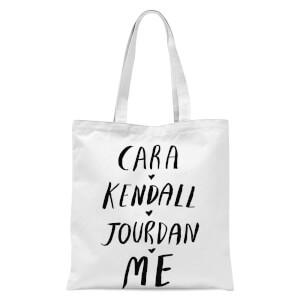 Rock On Ruby Cara Kendall Jourdan Me Tote Bag - White