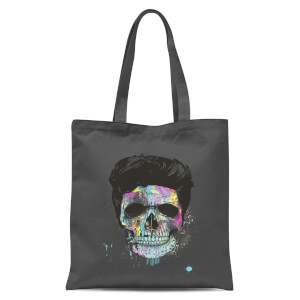 Balazs Solti Colourful Skull Tote Bag - Grey