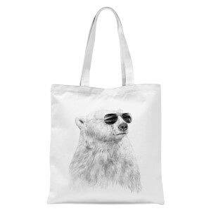 Cool Bear Tote Bag - White