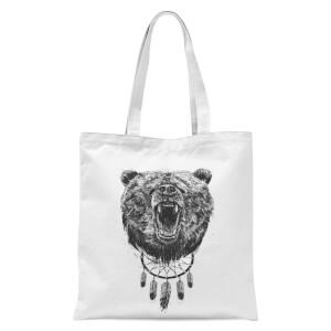 Balazs Solti Dreamcatcher Bear Tote Bag - White