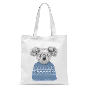 Balazs Solti Koala and Jumper Tote Bag - White