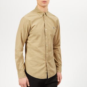 Polo Ralph Lauren Men's Garment Dyed Oxford Long Sleeve Shirt - Surrey Tan