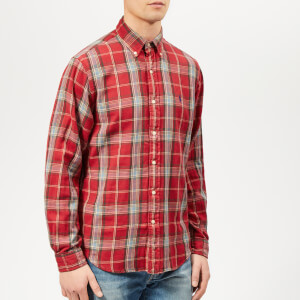Polo Ralph Lauren Men's Checked Cotton-Flannel Shirt - Red/Blue