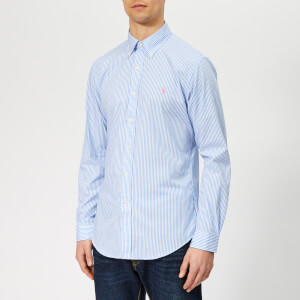 Polo Ralph Lauren Men's Slim Fit Stretch Poplin Shirt - Powder Blue