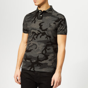 Polo Ralph Lauren Men's Basic Mesh Polo Shirt - Charcoal Rl Camo