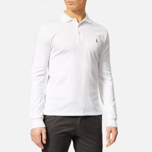 Polo Ralph Lauren Men's Slim Fit Long Sleeve Pima Polo Shirt - White