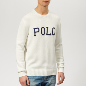 Polo Ralph Lauren Men's Logo Crew Neck Knitted Jumper - White