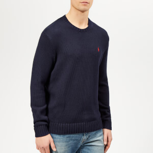 Polo Ralph Lauren Men's Crochet Knit Jumper - Hunter Navy