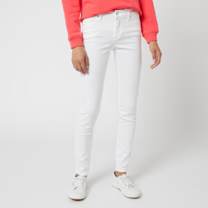 Armani Exchange Women's J01 High Rise Skinny Jeans - White