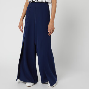 Armani Exchange Women's Wide Leg Trousers - Navy