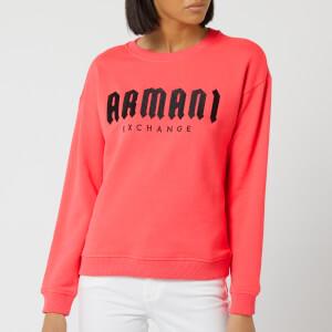 Armani Exchange Women's Logo Sweatshirt - Pink