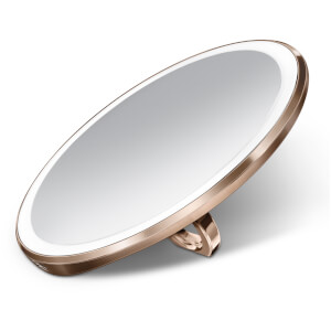 simplehuman Rechargeable Compact Sensor Mirror - Rose Gold 10cm