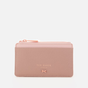 Ted Baker Women's Lori Textured Zipped Credit Card Holder - Taupe