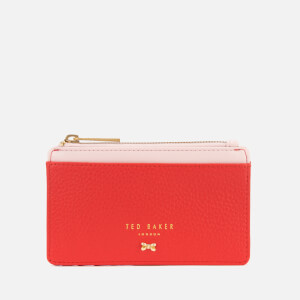 Ted Baker Women's Lori Textured Zipped Credit Card Holder - Red