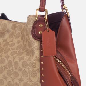Coach Women's Coated Canvas Signature Edie 31 Shoulder Bag - Rust: Image 4