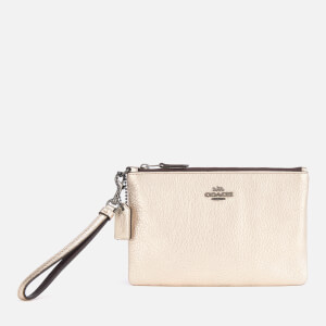 Coach Women's Metallic Small Wristlet - Platinum