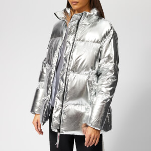 Tommy Hilfiger Women's Icon High Gloss Coat - Silver
