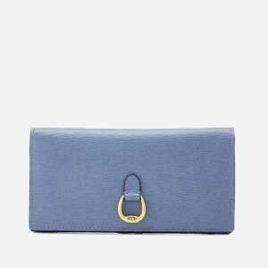 Lauren Ralph Lauren Women's Bennington Slim Medium Wallet - Blue Mist