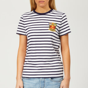 Polo Ralph Lauren Women's Cross Flag Stripe T-Shirt - Multi