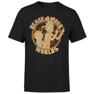T-Shirt Homme Peace Among Worlds Rick et Morty - Noir