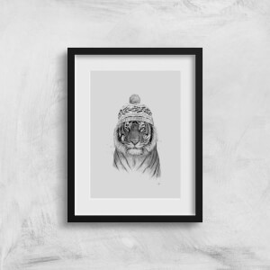 Balazs Solti Winter Tiger Art Print
