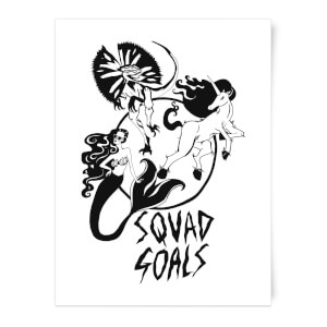 Mermaid, Unicorn and Dinosaur Squad Goals Art Print