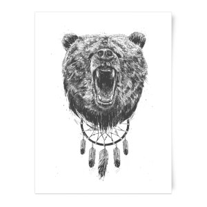 Dreamcatcher Bear Art Print