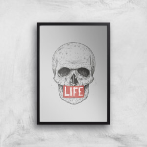 Balazs Solti Life Skull Art Print