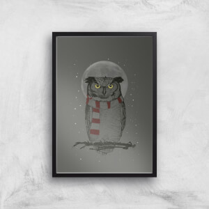 Balazs Solti Owl and Moon Art Print
