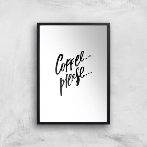 PlanetA444 Coffee Please... Art Print