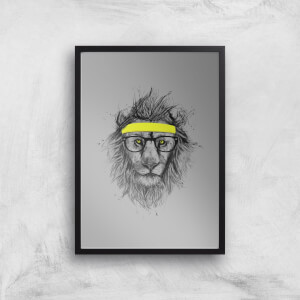 Balazs Solti Lion and Sweatband Art Print