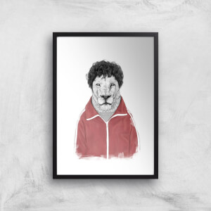 Balazs Solti Sporty Lion Art Print