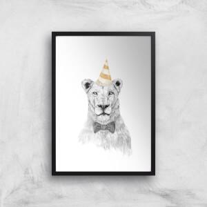 Balazs Solti Party Lion Art Print
