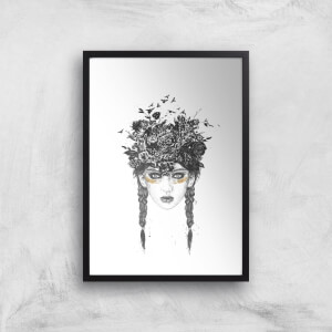 Balazs Solti Native Girl Art Print
