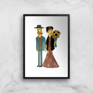 Tobias Fonseca Love Is Art - Frida Kahlo and Van Gogh Art Print
