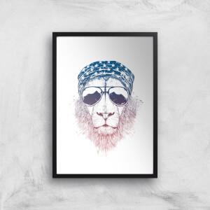 Balazs Solti Bandana Lion Art Print