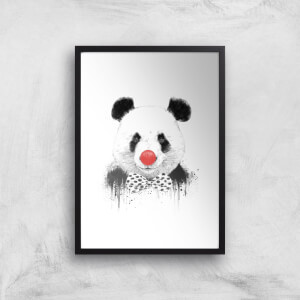 Balazs Solti Red Nosed Panda Art Print