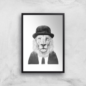 Balazs Solti Monocle Lion Art Print